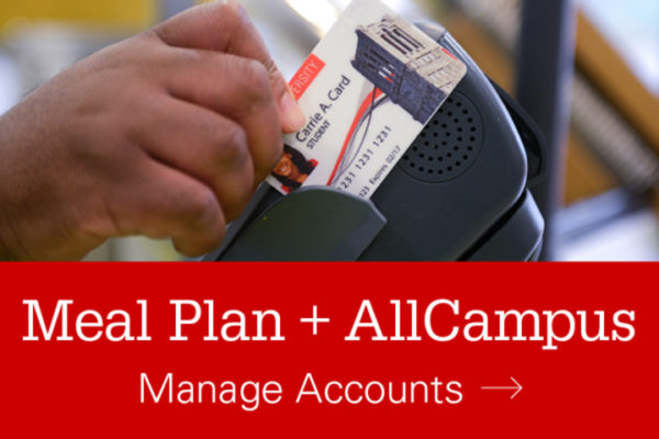 Meal Plan + AllCampus - Manage Accounts